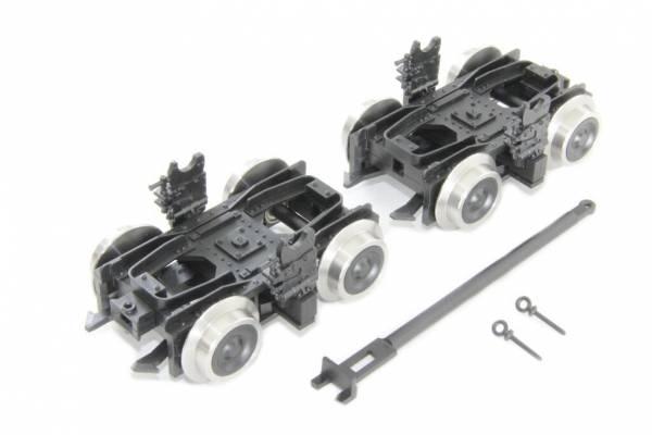 Boerman Rollbockset DR, Spur G, für Spur II (64mm)-Wagen auf Schmalsspur IIm (45mm)