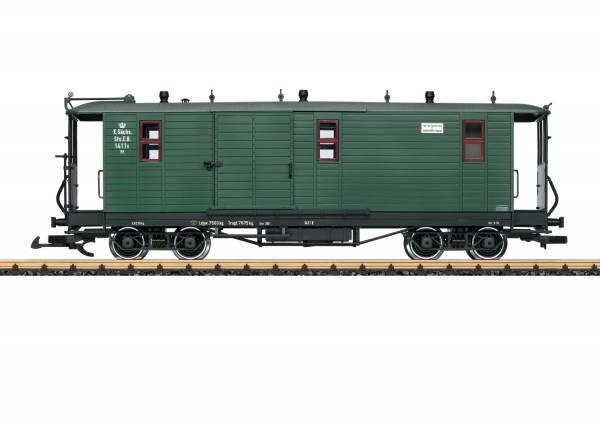 LGB K. Sächsischer Gepäckwagen, grün 30323 Spur G