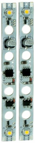 2 GLDi LED-Lichtleisten 100mm, warmweiss, Puffer, mit Decoder flache LED, Spur G