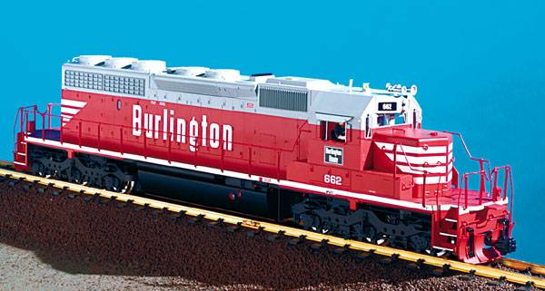 USA-Trains Burlington Route - Red/White/Gray ,Spur G
