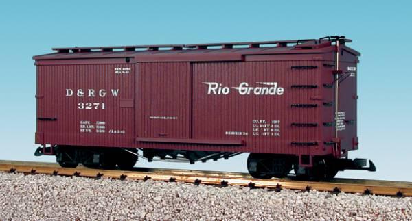 USA-Trains Woodsided Boxcar, braun R19081, Spur G