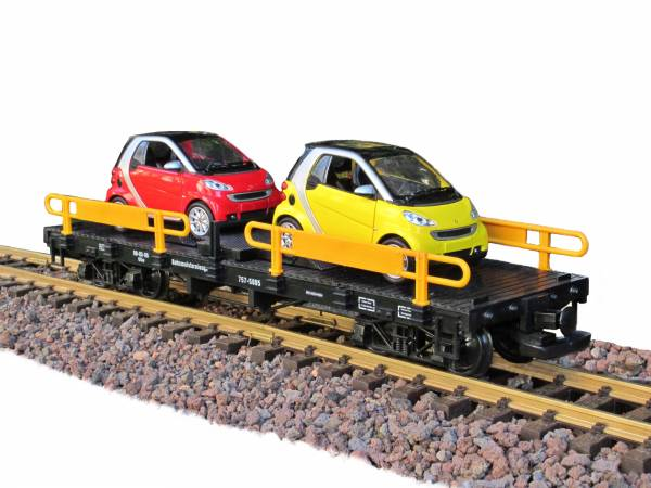 Zenner Autotransporter mit 2 Smart, Edelstahlräder, Spur G