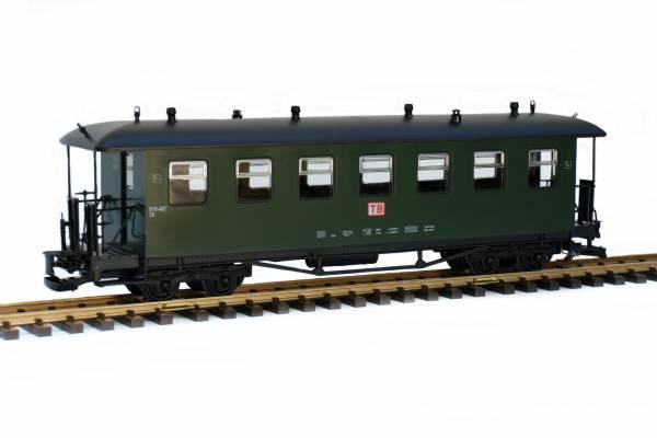 Train Personenwagen, Runddach, grün, TB, Spur G, für LGB Kupplung