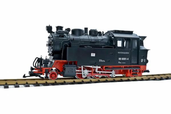 Train Dampflok HSB BR 996001-4, LGB Analogantrieb mit Strom vom Gleis, Spur G