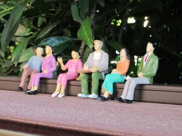 Everest 6 sitzende Figuren Set 2, Maßstab 1:24, für der Spur G Gartenbahn