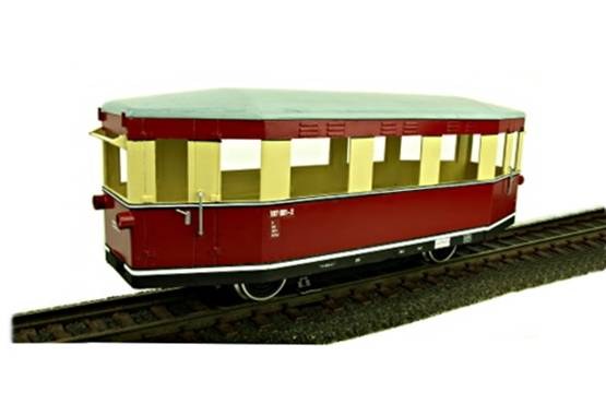 Train-Line45 Triebwagen T1 der Gesellschaft HSB, analog, für Spur G Gartenbahn.