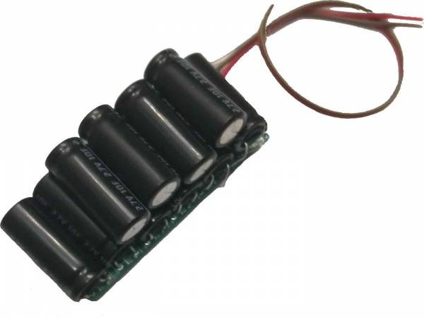 MD-Electronics intelligentes Goldcap Strompufferung gegen kurzzeitigen Stromausfall für DCC-Lok