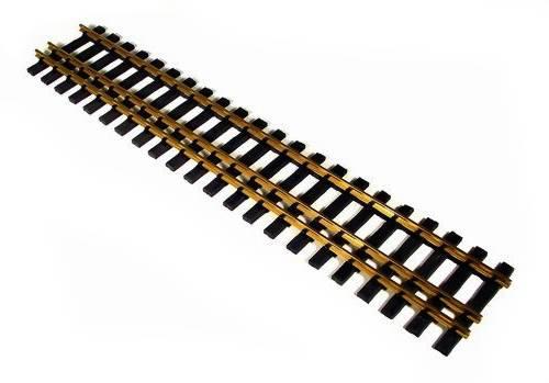 Zenner 4 Stück 3 Schienen-Messinggleise 64mm Spur 2 Länge 600 mm Gartenbahn
