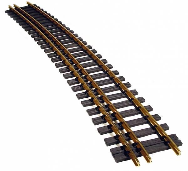 gebogenes Gleis 22,5°, Radius 3000 mm Dreischienengleis Spur II (64mm)