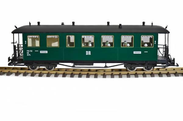 Zenner RüBB Büffet Personenwagen DR Spur G Gartenbahn, Edelstahradsätze