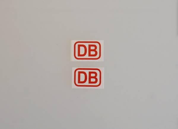 2 DB Aufkleber rot für Personenwagen 19x13mm Spur G
