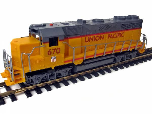 Diesellok Schiebelok Union Pacific mit Spur G- kompatibler Kupplung zum Selbsteinbau