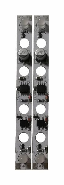 2 LED Lichtleisten mit in Kugelform-LED's für Personenwagen Spur G