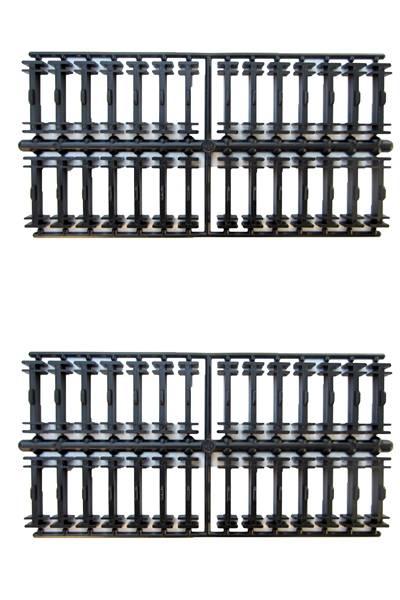 LGB Gleisklammern Spur G, auch für gebogene Gleise, flexibel