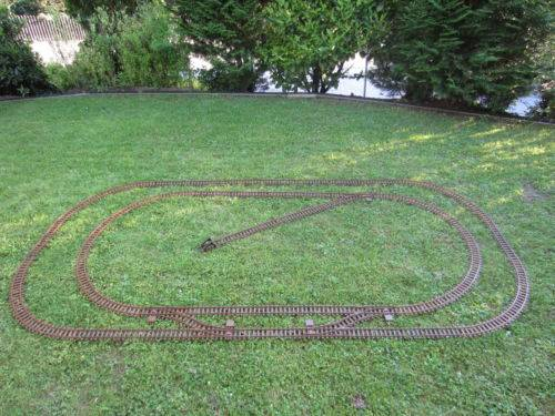 Train plastic track set, 55 pieces, 2 ovals, 5 points,scale G, for LGB