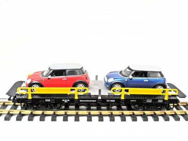 Zenner Autotransporter mit 2 BMW Mini Cooper, Spur G Gartenbahn