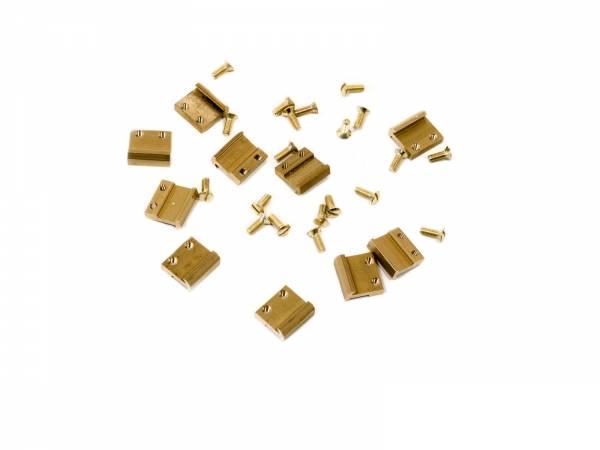 Train Line45 80 piece screw rail connector 15mm Brass Gauge G