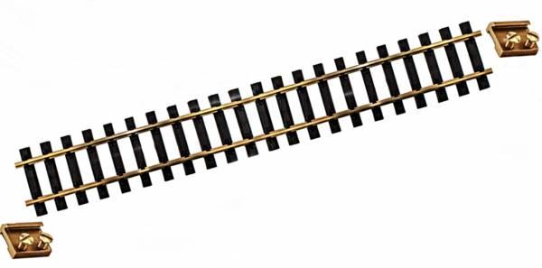 Train Line45 4 brass tracks, straight, L = 600mm