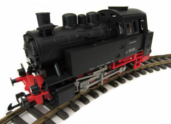 PIKO steam locomotive BR 80, analog with sound module and steam generator, scale G
