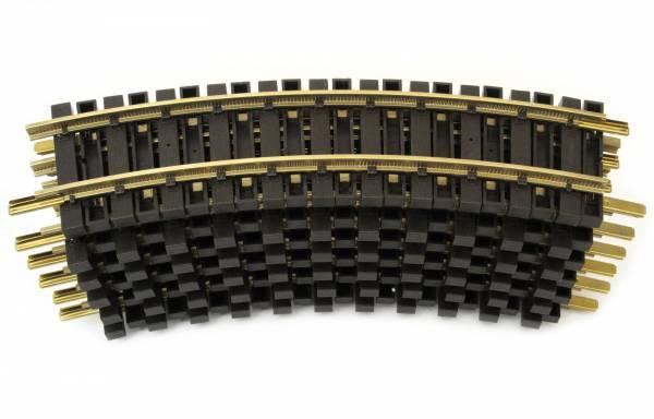 LGB 12 Messing Gleise, gebogen, R1=600mm, Spur G, kompatibel mit Piko
